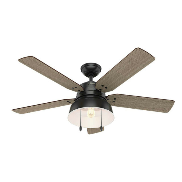 black outdoor ceiling fans with lights exterior mill valley matte black ceiling fan 59307 new hunter 52in outdoor with light