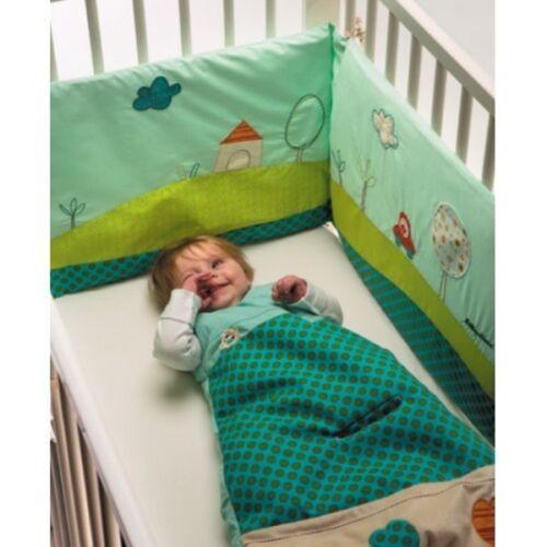 Linge de lit pour bébés Lilliputiens nid d'ange Jeff 70 cm Bord Fermeture Éclair Débardeur Sans Manche 86368