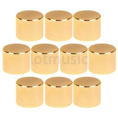 10 pcs 26X21mm Gold Knob Cap  Aluminum  Potentiometer Knobs Cap New