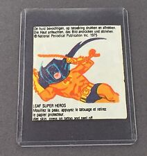 Vintage DC Comics Hoja Bubble Gum Tatuaje Batman 1975