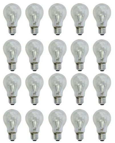 #3325 Glühlampe Glühbirne 25 Watt E-27 klar 20-er Pack