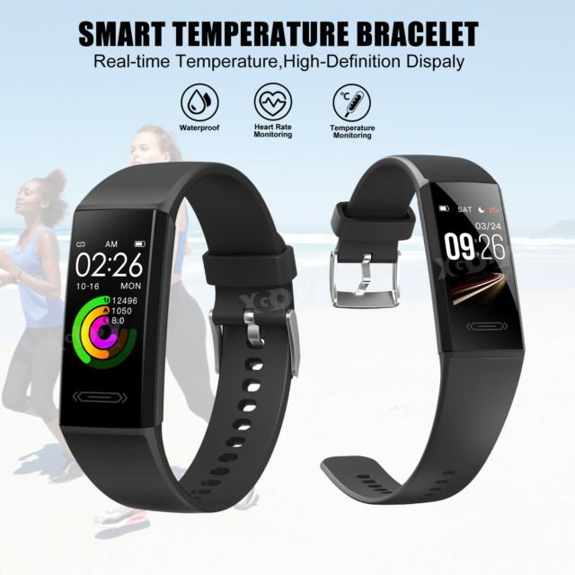 XGODY Smart Watch Body Temperature Measurement Heart Rate Sleep Monitor IP68 US