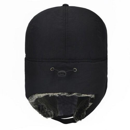 Mens Women Winter Thermal Russian Hat Trooper Snow Ski Ushanka Waterproof Cap