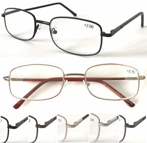 L18-Unisex-Classic-Simple-Reading-Glasses-Spring-Hinge-Long-Arm-Cover-Spectacles