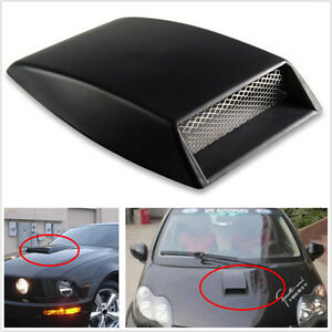 4x Universal Car Outlet decorative Air Flow Intake hood Scoop Vent Bonnet Cover