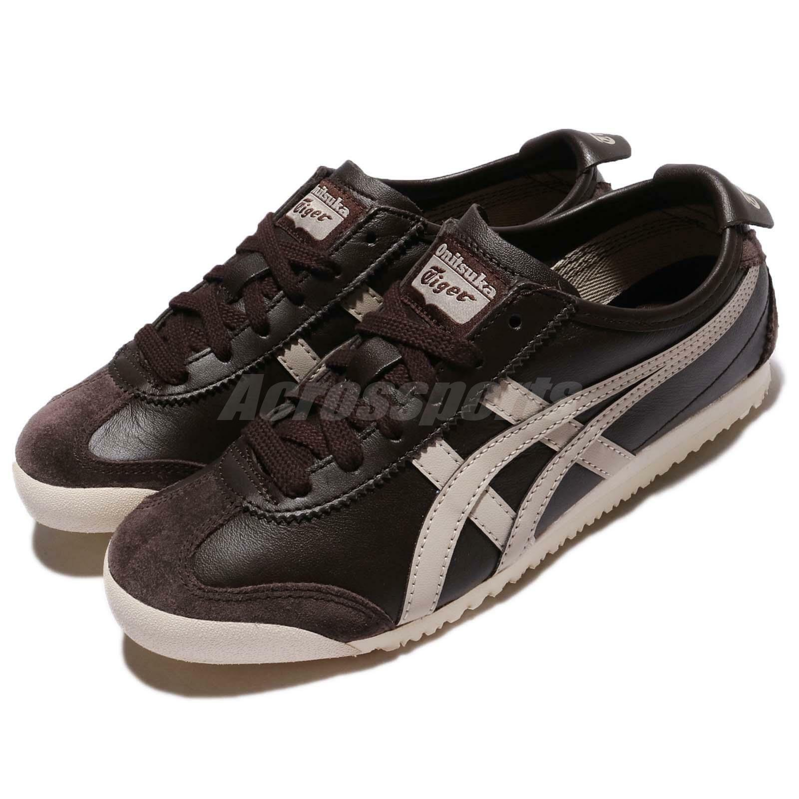 Asics Onitsuka Tiger Mexico 66 Coffee Feather Grey Men Running Shoes D4J2L-2912