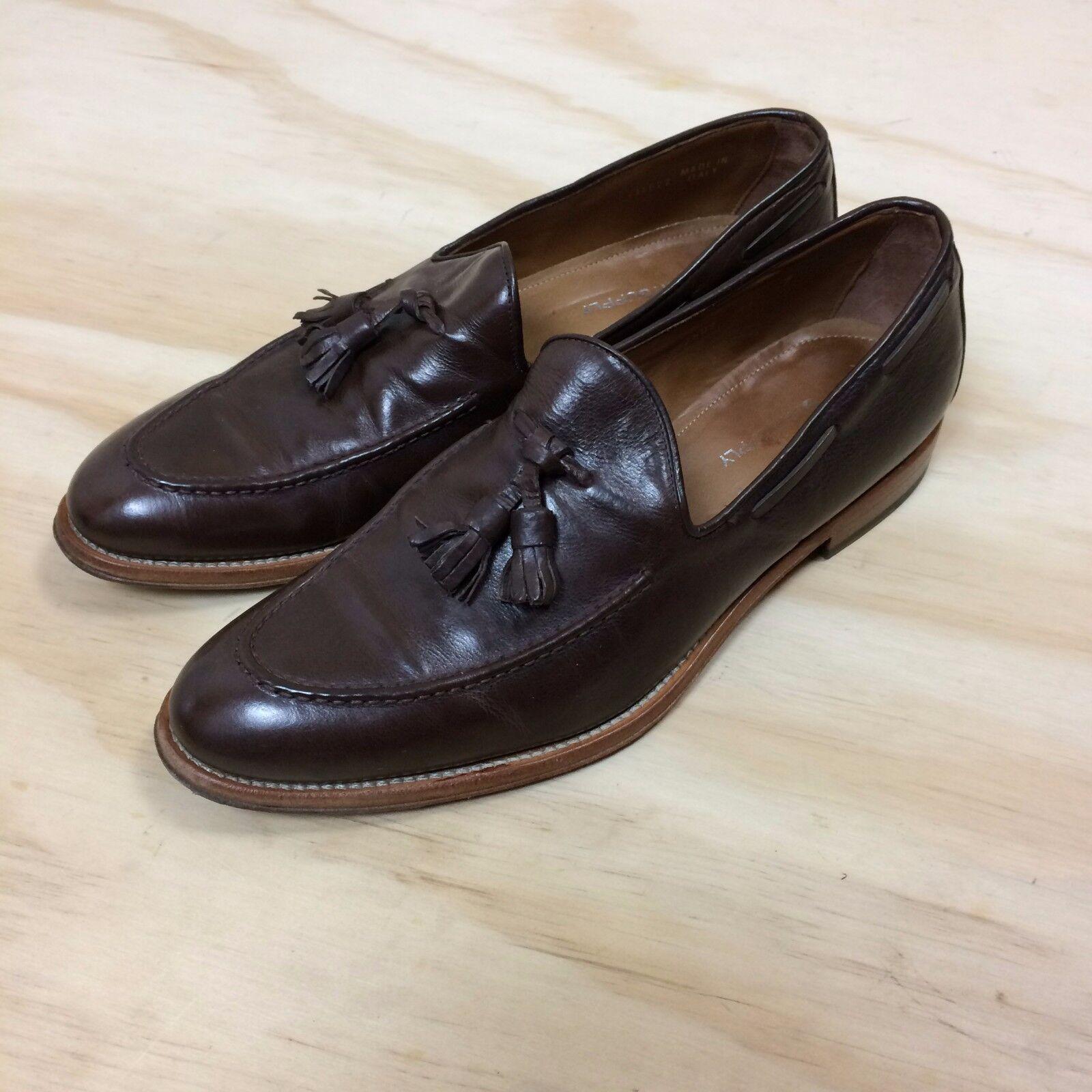 Antonio Maurizi 41/US 11 Brown Pelle Moccasin Tassel Moccasin Pelle Toe Dress Slip-On Loafers 1bcca8