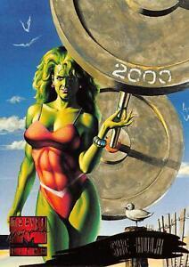SHE-HULK-1995-Marvel-Masterpieces-Fleer-Base-Trading-Card-145