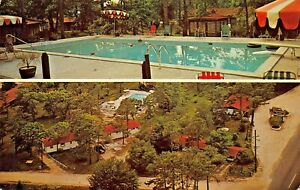 MYRTLE-BEACH-SC-TREASURE-COVE-MOTEL-POOL-amp-AERIAL-VIEW-1961-PSTMK-POSTCARD