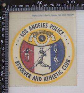 VINTAGE-LOS-ANGELES-REVOLVER-amp-ATHLETIC-CLUB-POLICE-SOUVENIR-WINDOW-STICKER