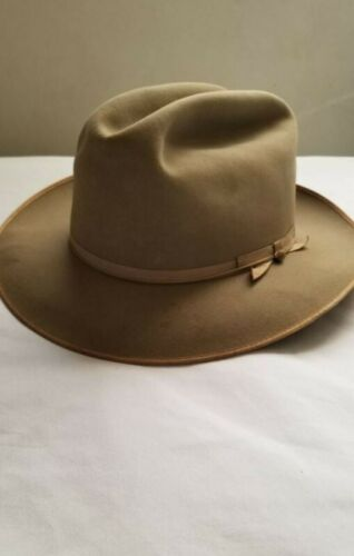 VTG 1950s Towncraft Western Fedora Hat Silverbelly