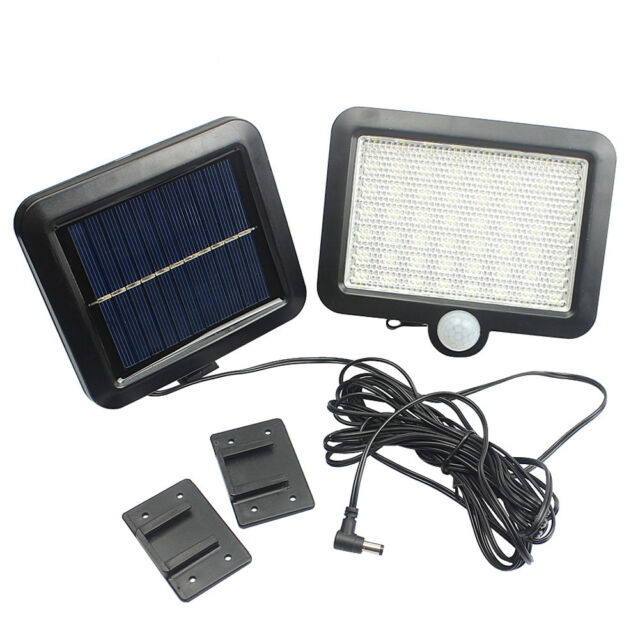34 LED Solarlampe Solarleuchte Außen Solarstrahler Bewegungsmelder Gartenlampe