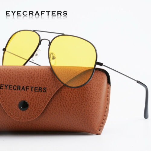 Day Night Vision Men/'s Sunglasses Driving pilot Classic Yellow Lens Sight Car