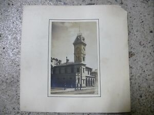 ANTIQUE-AUSTRALIAN-POSTCARD-PHOTOGRAPH-KYNETON-PO-POST-OFFICE-BUILDING