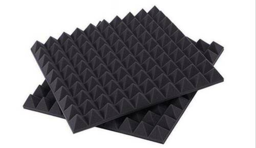 """Acoustic Soundproof Sound Stop Absorption Pyramid Studio Foam 20/""""x20/""""x2/"""""""