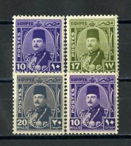 Egypt-Stamps-Farunk-Collection-VF-OG-NH-Signed-From-Farouk-Collection-Signed