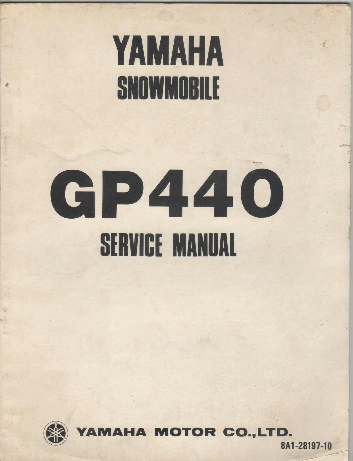 1976 YAMAHA SNOWMOBILE GP440  LIT-12618-A1-00  SERVICE MANUAL (511)