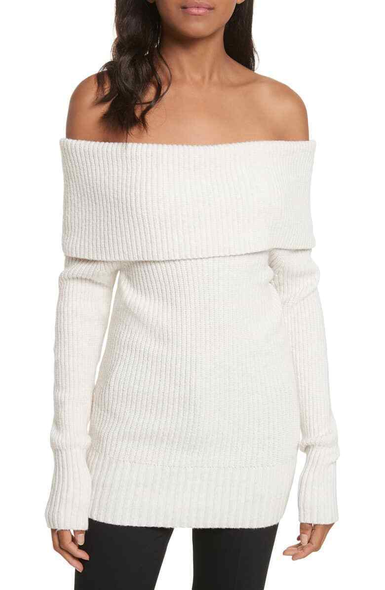 Rebecca Taylor Off-The-Shoulder Sweater MSRP  Size L D 167 NEW