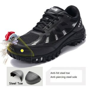 80e9c0ba9d0 Details about Men Women Construction Breathable Working Safety Shoes Steel  Toe Sole Work Boots