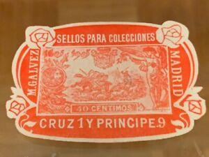 POSTER-STAMP-VIGNETTE-SPAIN-M-GALVEZ-MADRID-from-1913