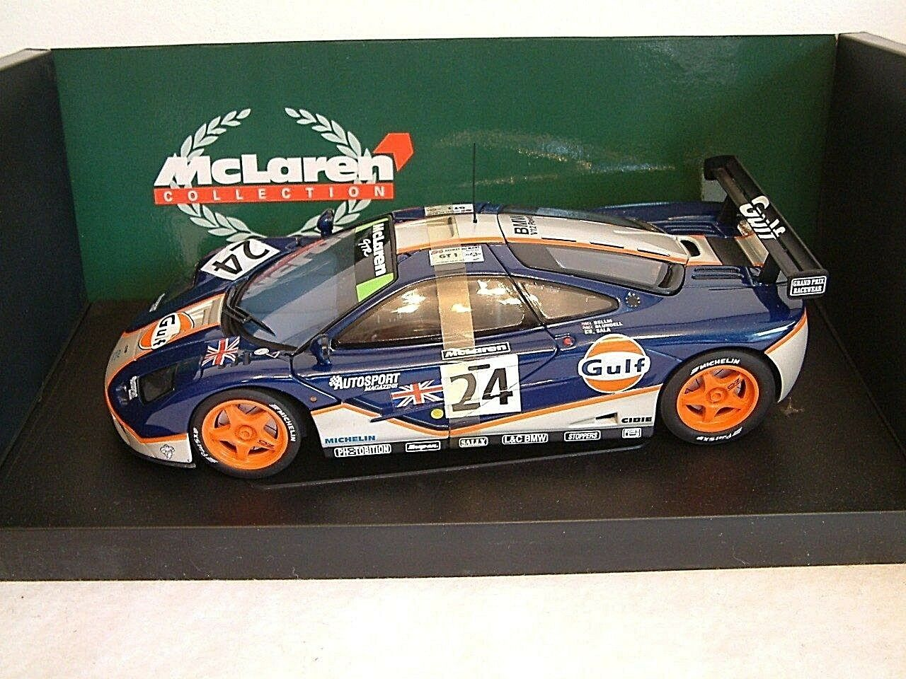 MINICHAMPS 530151824 - 1 18 MCLAREN F1 GTR - GULF RACING - 4TH LEMANS 1995