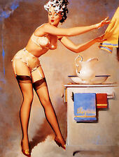 vintage Retro style Gil Elvgren pin up girl sexy metal sign Tin wall door plaque