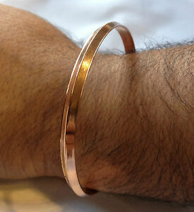 1d725fd327baf Details about Stunning Pure Copper Punjabi Hindu Sikh Singh Khalsa One Edge  Healing Kara