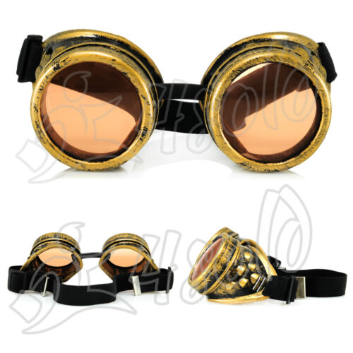 CYBER GOGGLES STEAMPUNK GOTH OVAL PLASTIC WELDING  SUNGLASSES 100/% UV400