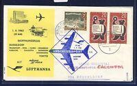 50137) Berlin, Zul. zu LH FF Düsseldorf - Calcutta Indien 1.4.63, SoU