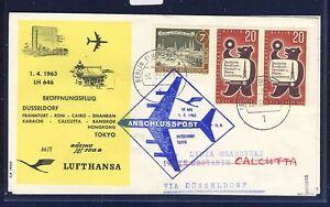 50137-Berlin-Zul-zu-LH-FF-Duesseldorf-Calcutta-Indien-1-4-63-SoU