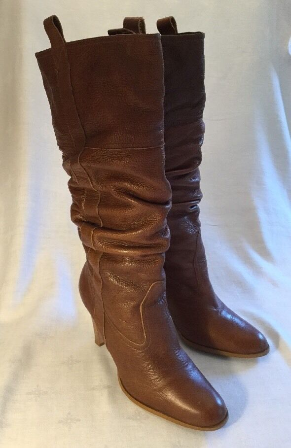 Brown Matisse Ladies Boots Sz 9 1 2 M Great Cond Leather Slouchy