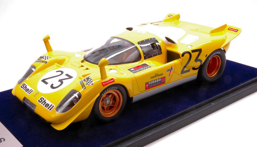 FERRARI 512 S  23 8th 1000 Km SPA 1970 D. Bell/DE FIERLANT 1:18 Model