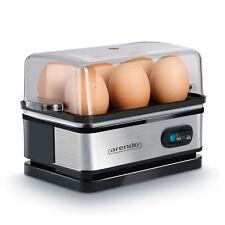 Arendo Edelstahl Eierkocher mit Warmhaltefunktion   Egg cooker  1-6 Eier  Silber