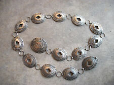 vintage Concho Belt south western sterling Indian Native American