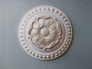 Grand Tudor Rose Blanc décoratifs Furniture Mouldings Fire place un