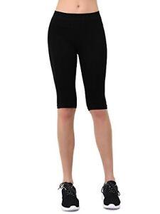 36963117ee18b Tango11s Teejoy Women's Seamless Nylon Knee Length Leggings - Black ...