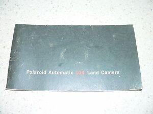 Original-Vintage-Polaroid-Automatic-104-Camera-Instruction-Manual-VG-Condition
