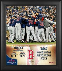 """Boston Red Sox 2018 World Series Champs Framed 15"""" x 17"""" Collage - Fanatics"""