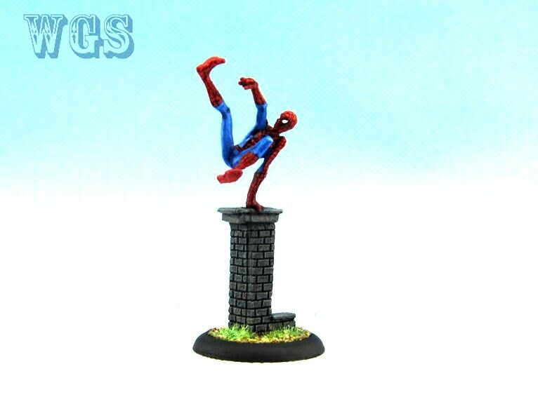 Knight Models pintado Juego De Batman En Miniatura Universo Marvel Spiderman Metal KM06