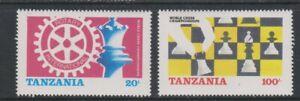Tanzania - 1986, World Chess Championships set - MNH - SG 461/2