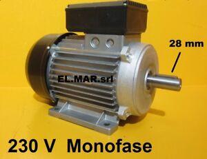 Dettagli Su Motore Elettrico Monofase 4 Hp Kw 3 1400 G 4 Poli Ponte Sollevatore Auto 230 V