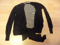 Ted Baker Black Silk/ Angora Cardigan Size 0-Uk Size 6