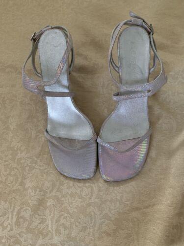 Escada Sandal Pink Silver For Woman. Size 41 Size 7