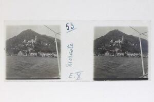 Suisse-Morcote-Foto-Stereo-T2L9n13-Placca-Da-Lente-Vintage