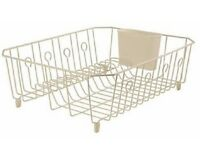 Rubbermaid Sink Large Wire Dish Rack Drainer Bisque 6032-ar