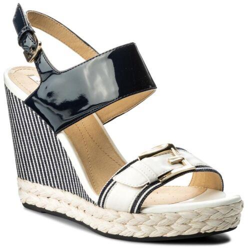 19GD Geox women/'s sandal wedges Janira blue