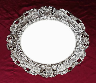 Gutherzig Wandspiegel Spiegel Altsilber Oval 45 X 38 Cm Barock Antik Repro Vintage 345 88* Guter Geschmack Antiquitäten & Kunst Replikate