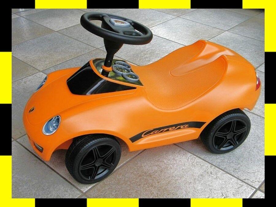 PORSCHE DESIGN Baby Kinder 911 Carrera original BOBBY CAR SONDERFARBE Orange BIG