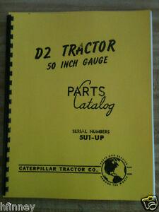 Details about Cat Caterpillar D2 Parts manual book dozer 5U 1 up NEW