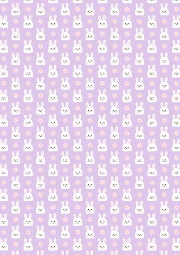 Printed Bow Fabric A4 Canvas Easter Bunnies Bunny ES26 Make glitter hair bows